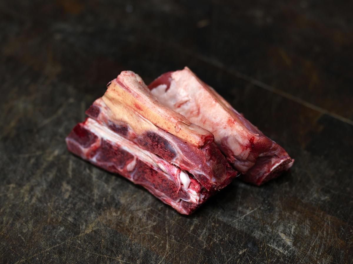 Bone-in lamb neck.