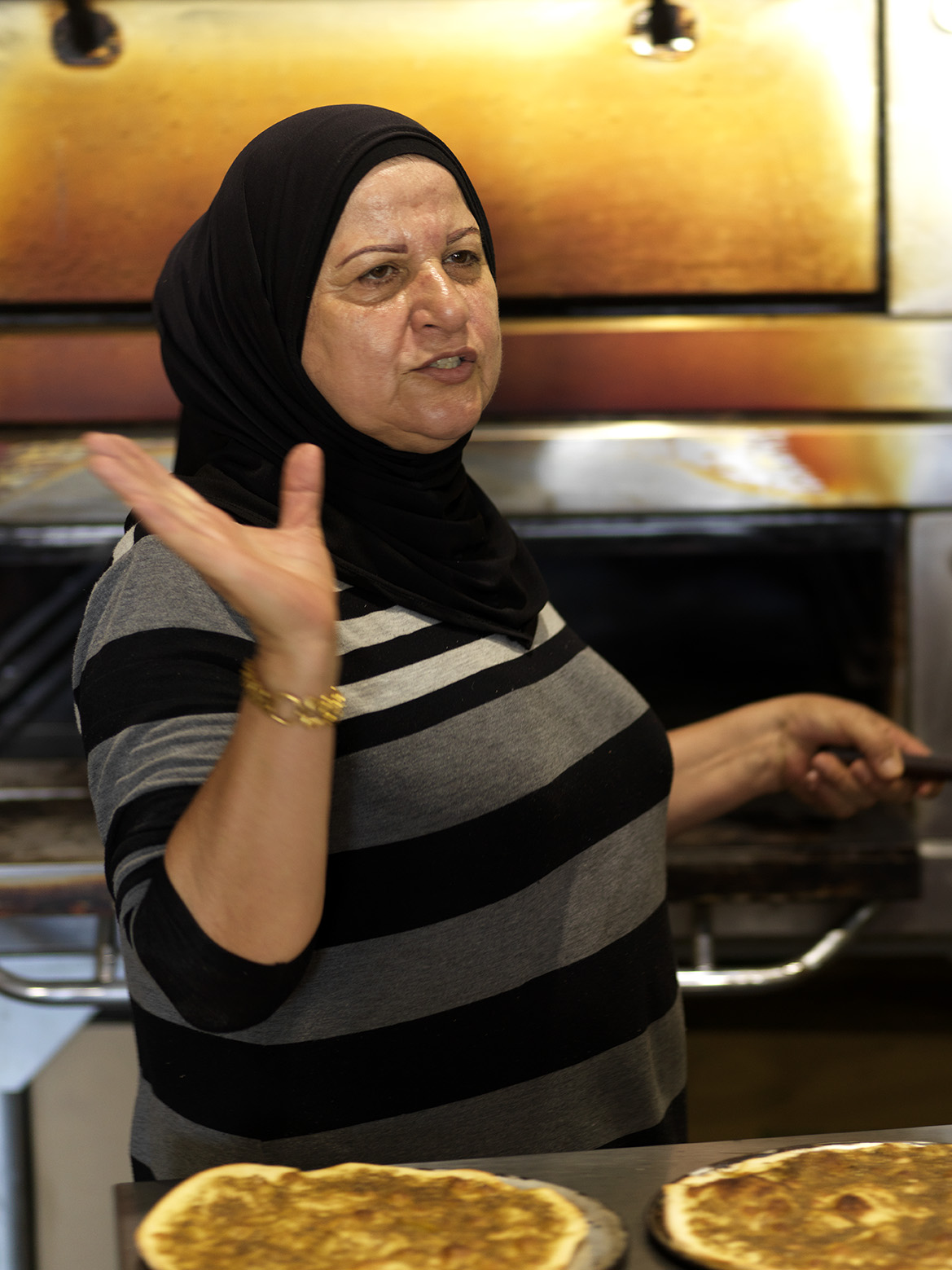 The manoush master - clocking up 30+ years making some of the city's best manoushe.