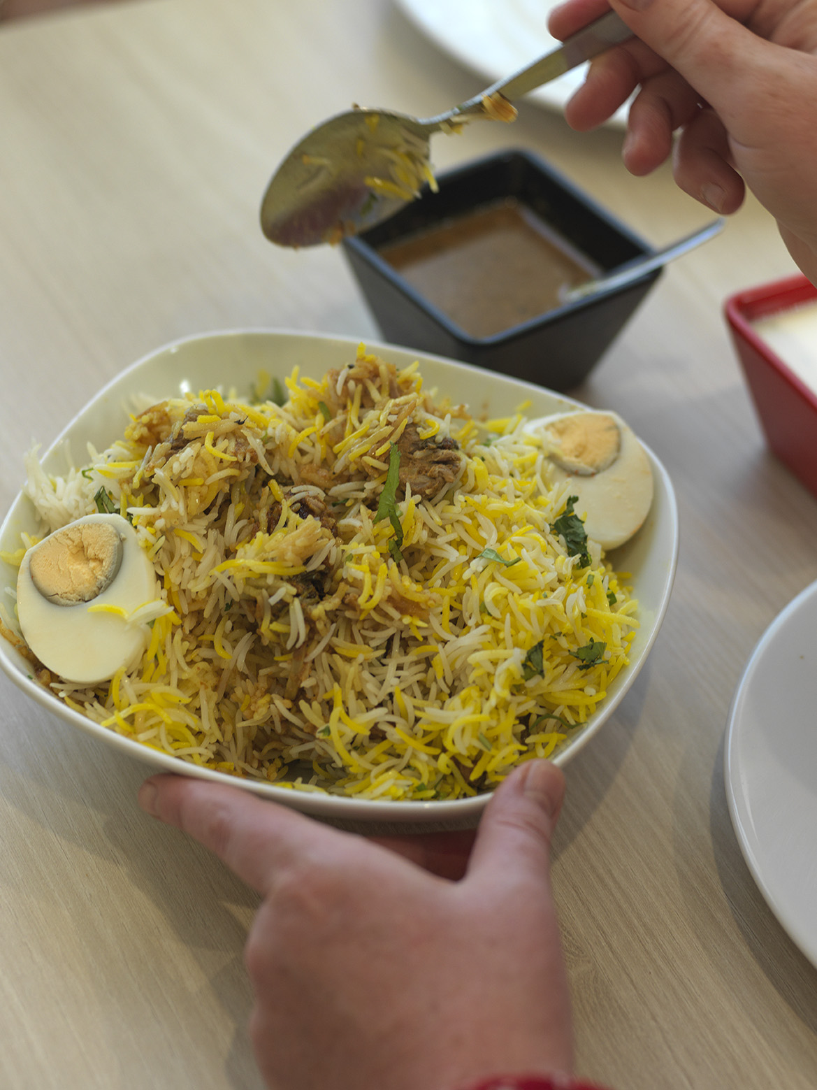 Traditional doesn't alway mean beautiful - Hyderabad House's goat dum biryani is the definition of ugly delicious.