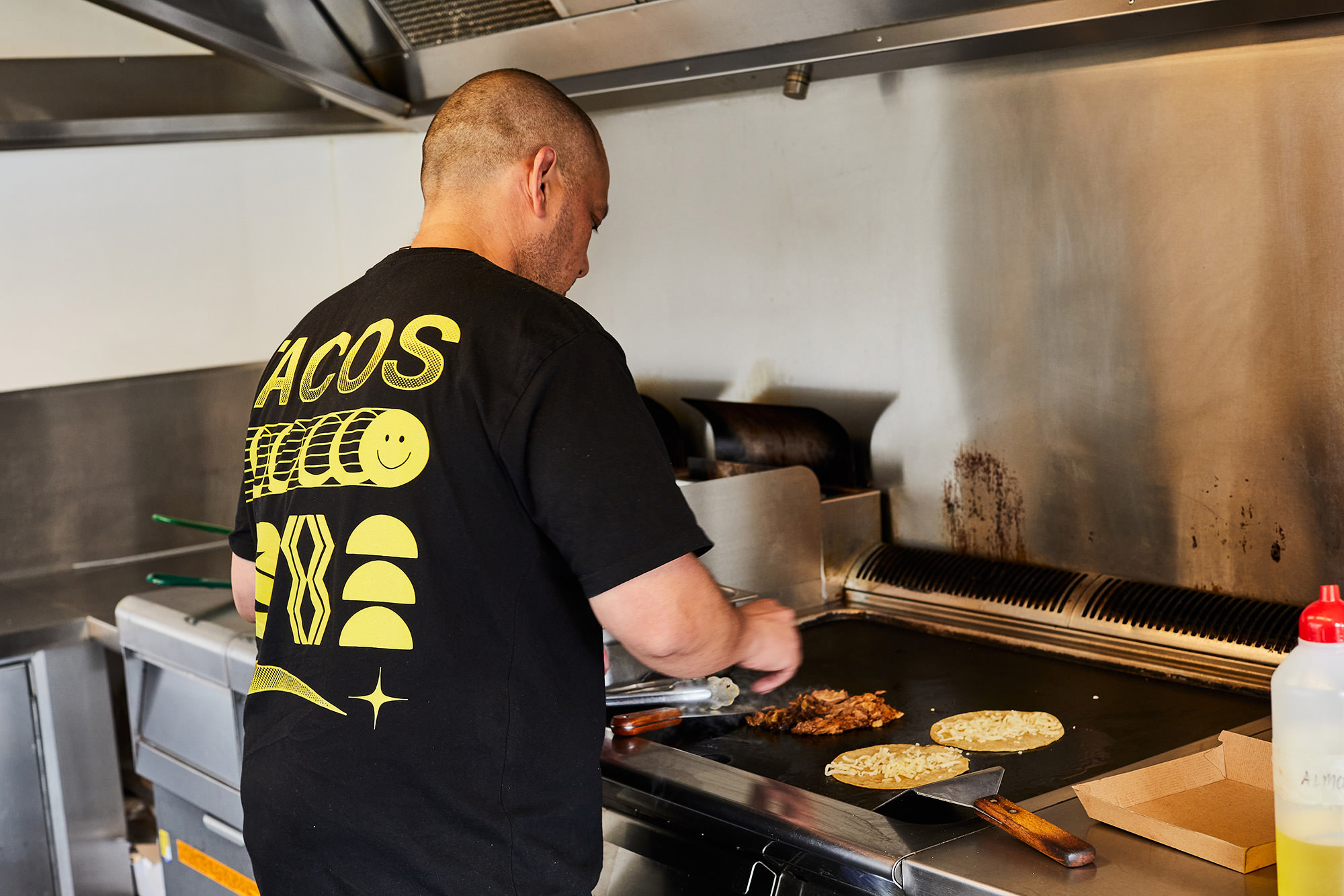 Raph runs three Beatbox Kitchen burger trucks, three Taco Trucks, a Beatbox Kitchen diner and Juanita Peaches, a combined burger and donut shop.