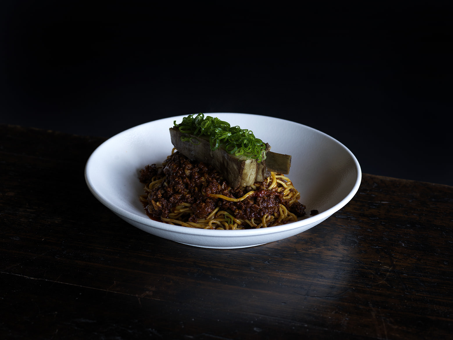 Nick's spiced goat rib noodles.