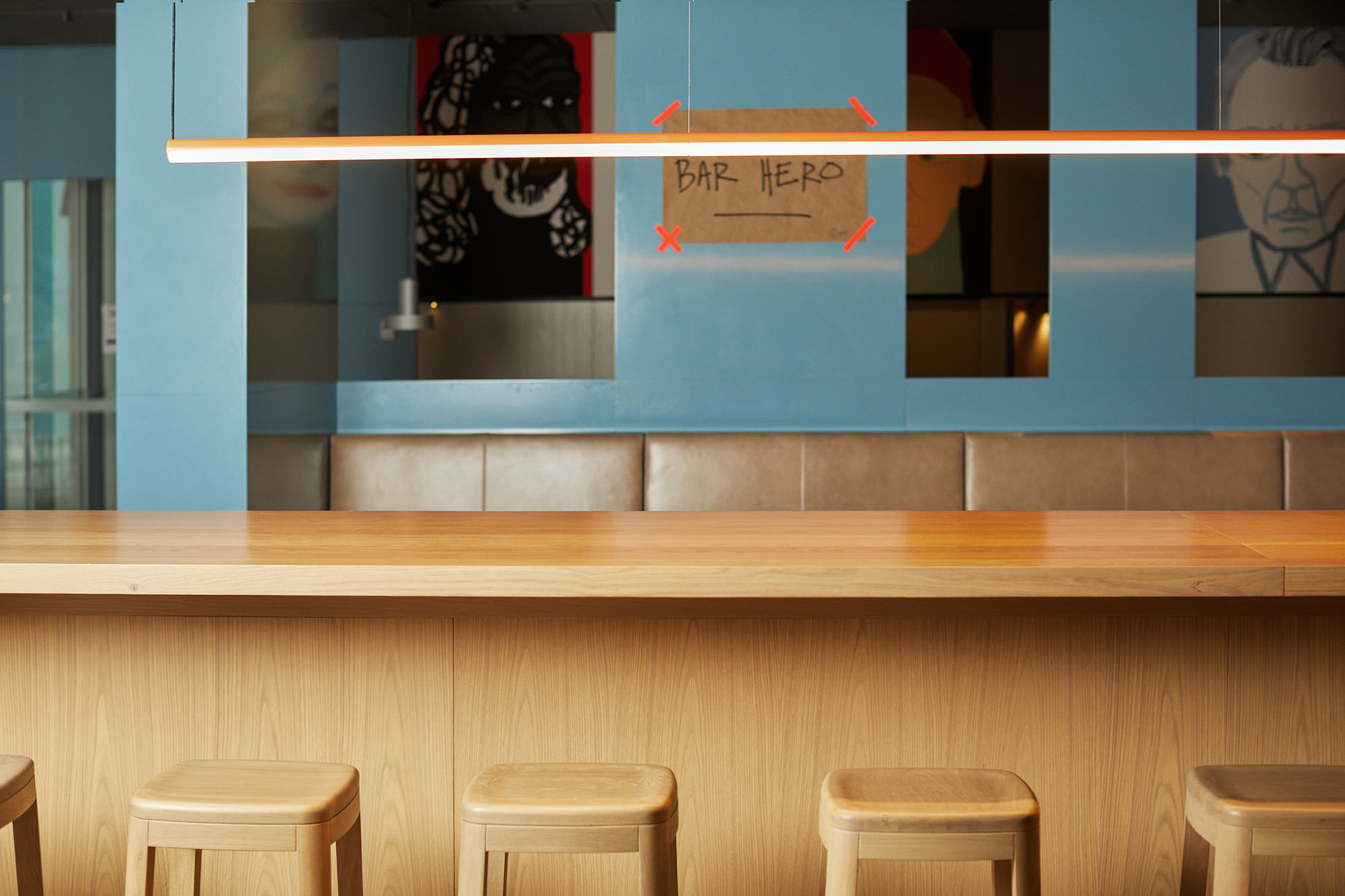 Hero - the new flagship restaurant at Melbourne's Australian Centre for the Moving Image in Federation Square.
