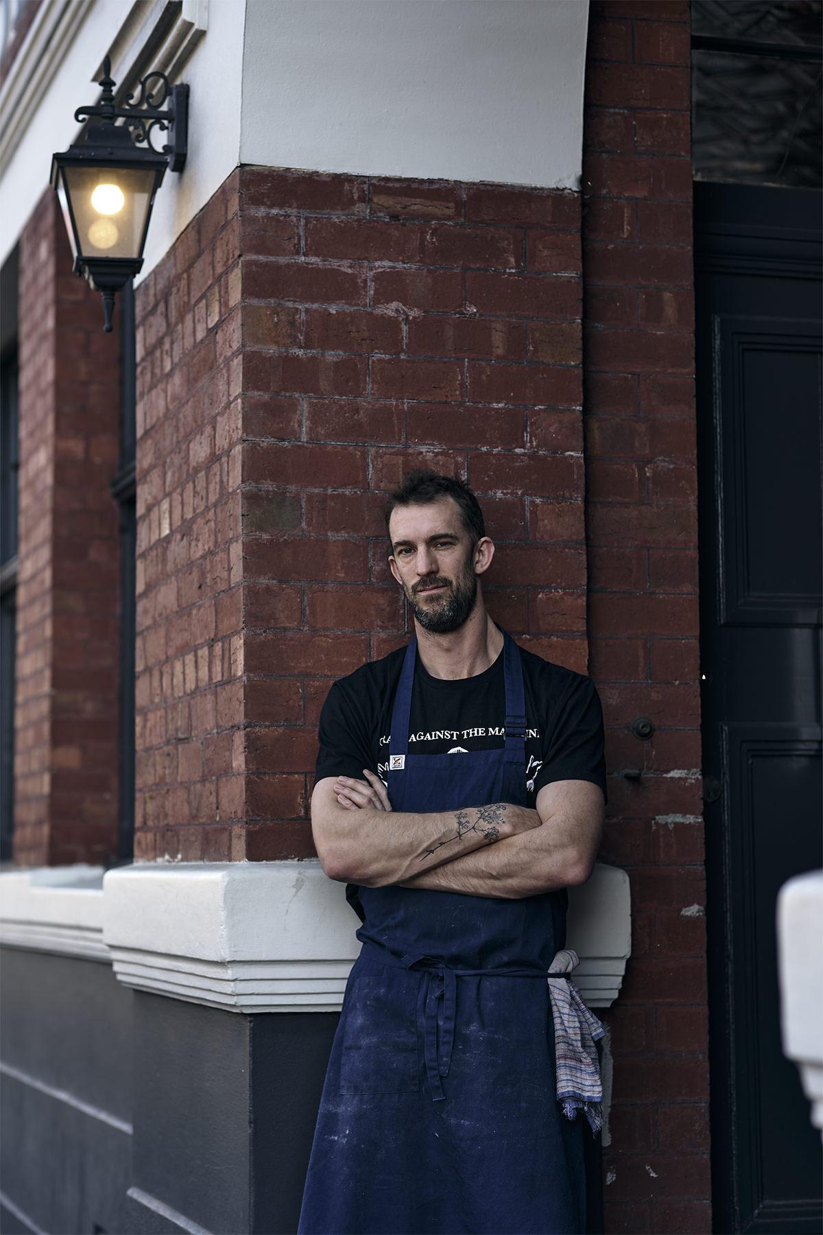 Tom Westcott outside Tom McHugo's in Hobart.