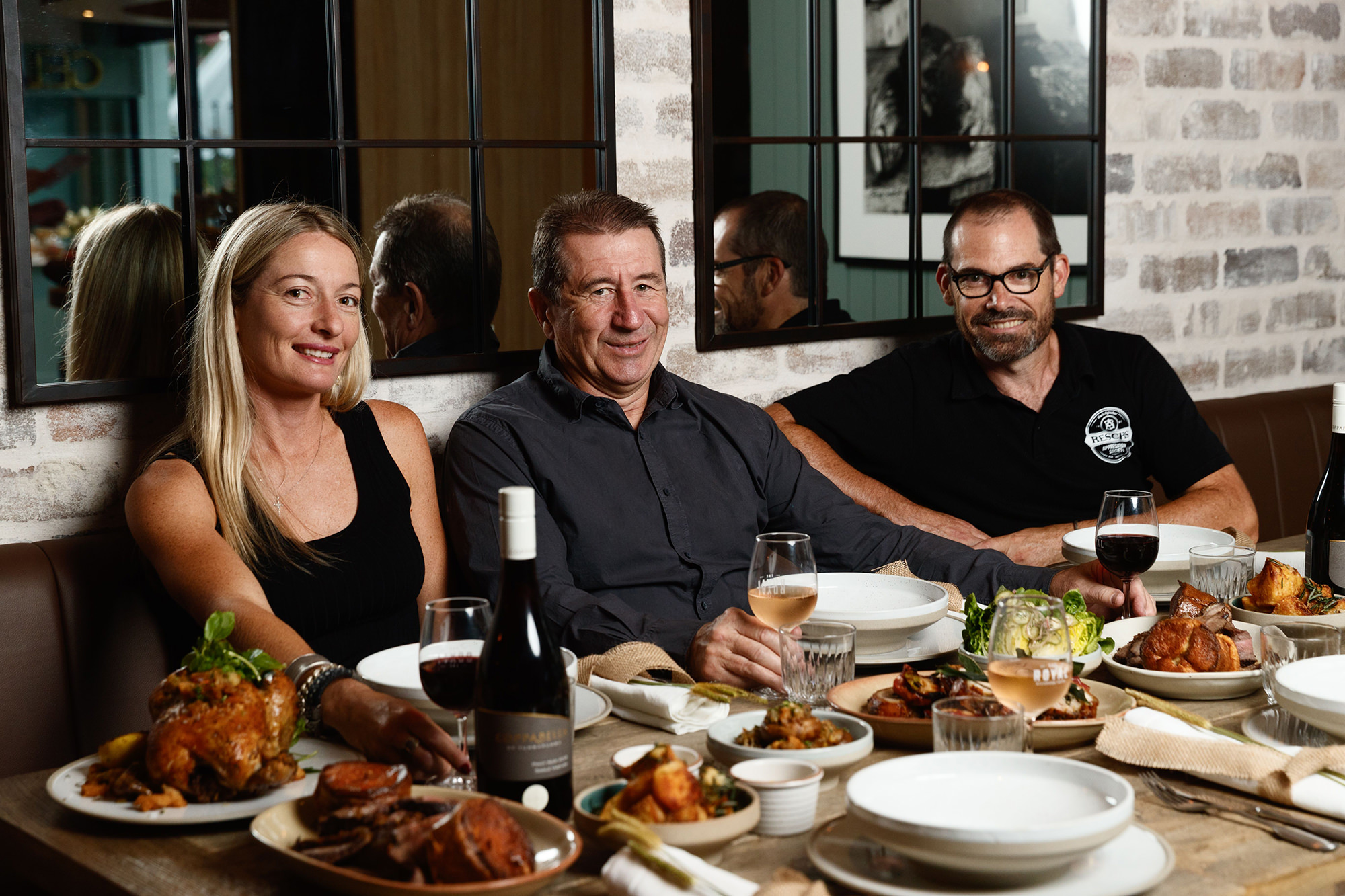 A right royal team - designer Victoria Hampshire, owner Peter Wynne and executive chef Todd Garratt.